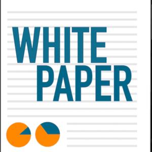 branded white paper logo